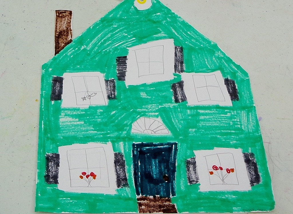 The Gallery For My Dream House Drawing Kids