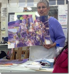 Gerry and her painting 4