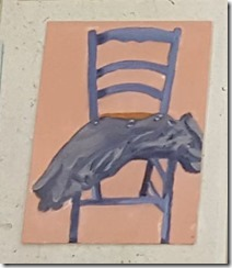 Patti Kelly's fast paintings chair
