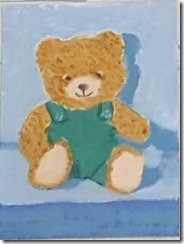 Patti Kelly's fast paintings teddy