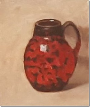 Patti Kelly's fast paintings vase